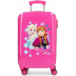 VALISE - BAGAGE Valise cabine 4 roues 55cm Sparkle Frozen Fuchsia