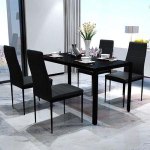 CHAISE 5 Pièces Ensemble Table à Manger avec Chaise de 4