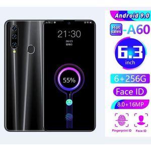 SMARTPHONE A60 Pro 6.3 Pouce Écran HD plein écran Ecran Versi