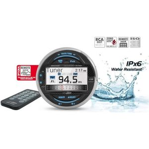 AUTORADIO BATEAU - HAUT-PARLEUR ÉTANCHE CALIBER Autoradio Marine USB/SD Bluetooth AM/FM MR