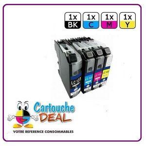 CARTOUCHE IMPRIMANTE Lot de 4 Cartouches générique compatible BROTHER L
