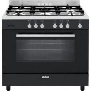 CUISINIÈRE - PIANO Glem - cuisinière gaz 130l 5 feux black pearl - ge