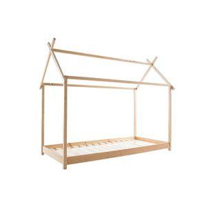 STRUCTURE DE LIT Miliboo - Lit cabane enfant avec sommier 90 x 200