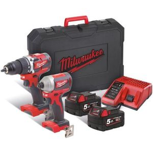 PERCEUSE MILWAUKEE Pack 2 outils sans fil brushless 18V (1x