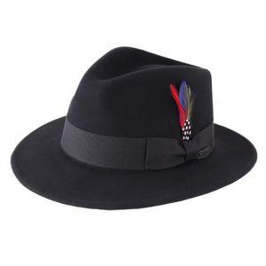 Simple Fashion FEDORA Laine Feutre Chapeau Large Bord Plat Outdoor Cap Casual Automne Chapeau
