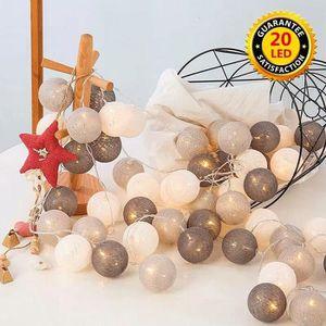 GUIRLANDE LUMINEUSE INT Guirlande Lumineuse 20LEDs 3,3M Boules Coton Lamp