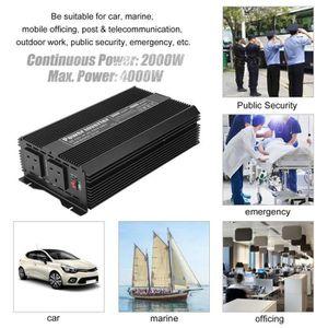 CONVERTISSEUR TENSION Convertisseur de tension de voiture 2000W Alimenta