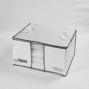 HOUSSE DE RANGEMENT Housse pour couette WOS blanche 70x50x30 cm