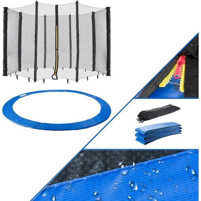Arebos 305cm Couvre-Trampoline + filet Convient pour 8 poteaux nets