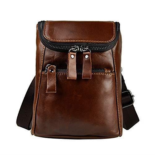 Valise Ou Bagage Vendu Seul WORGR Cuir véritable Mini Messenger Sac à bandoulière Pouch crochet sac de taille Paquet