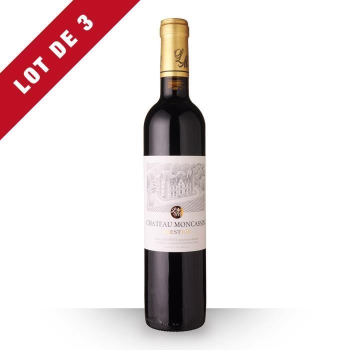 Lot de 3 - Château Moncassin Prestige 2017 AOC Buzet - 3x50cl - Vin Rouge
