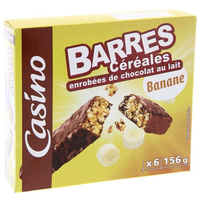 Barre Céréales chocolat banane 156 g