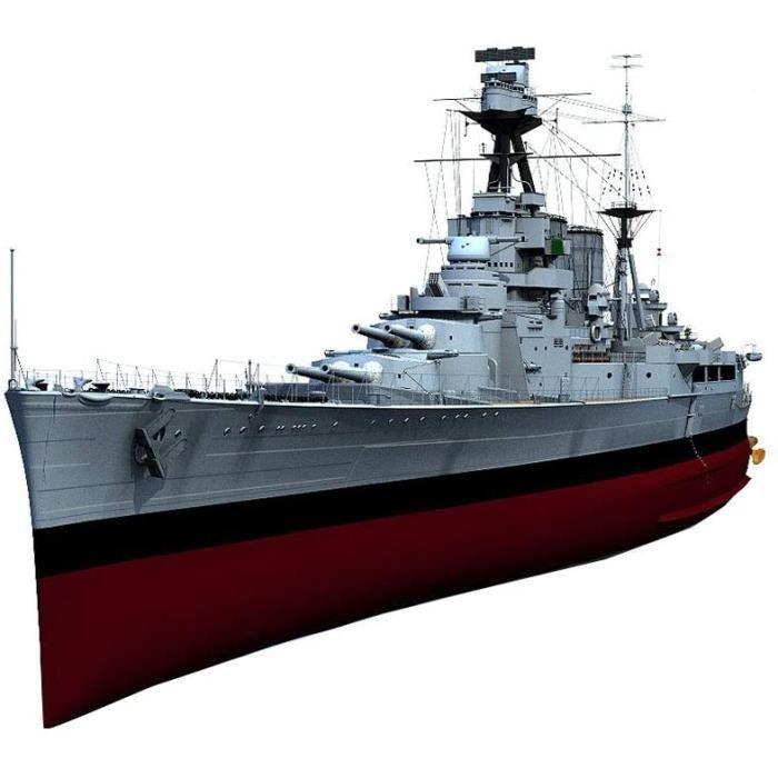 Kits de modélisme de bateaux Warship Militaire Modèle Jouets en Plastique, 1-200 Échelle Britannique « HMS Hood » Batail 92219