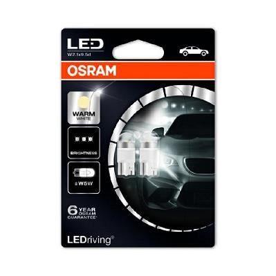 OSRAM Lot de 2 LED éclairage intérieur W2.1x9.5d - LED-W5W - Blanc chaud