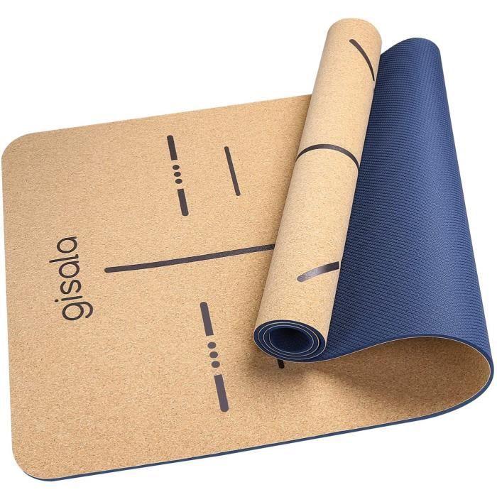 TAPIS DE SOL - TAPIS DE GYM - TAPIS DE YOGA GISALA Tapis de Yoga en Bois de Li&egravege, Tapis de Sport &Eacutecologique Mat&ea113