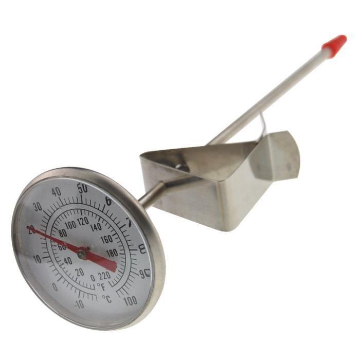 Laitiers Thermomètre – Idéal pour la création de lait Fromage yaourt Café 165 mm Longueur de la Sonde