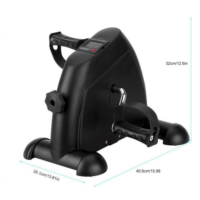 Mbuynow Noir Mini Vélo d'Appartement, Mini Vélo d'exercice Cardio à Pédale Écran LCD Réglable