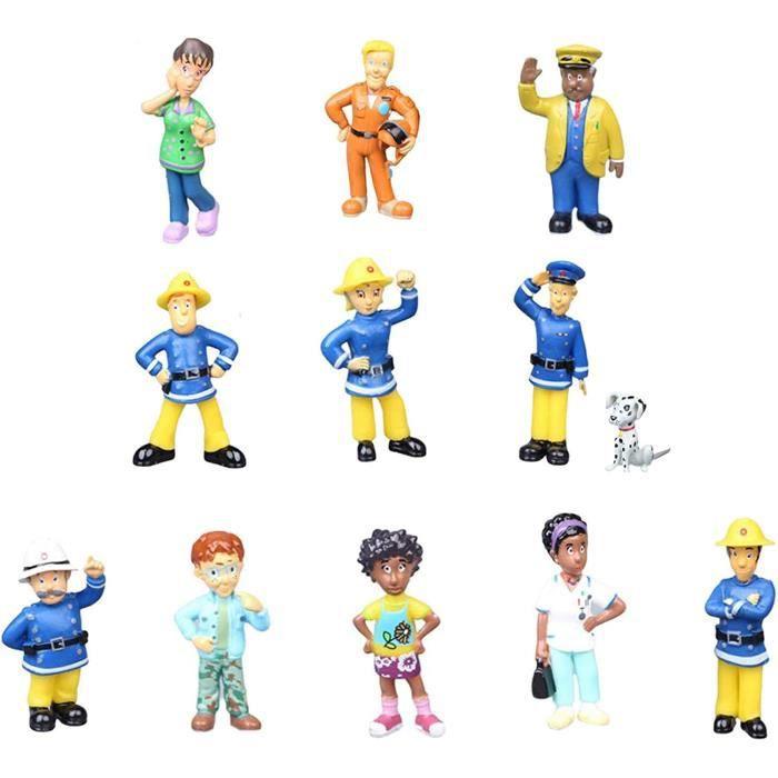 CAKE h Sam Le Pompier Gacircteau Deacutecoration Figurines Pompier Mini Figurines Pompier Cake Topper Figurines 12 Piegraveces380