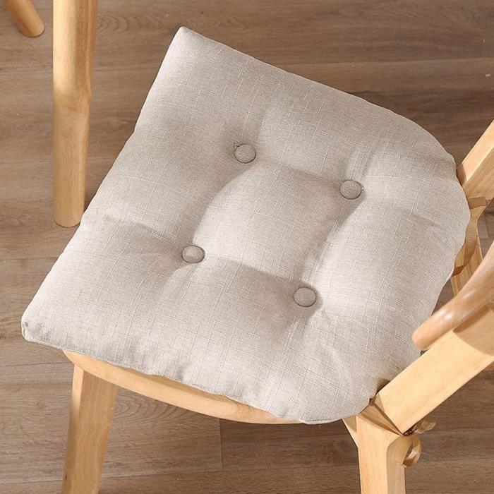Galette de Chaise déhoussable,galettes de chaises carrées avec Fermetures éclair détachables,Coussin de Chaise rembourré anti 69