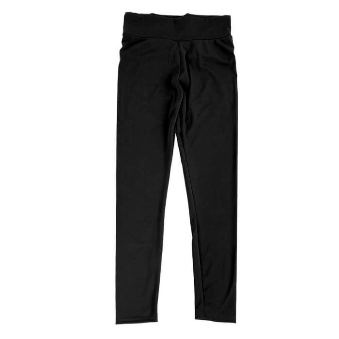 Qiilu pantalons de yoga Femmes Yoga Gym Pantalon de sport Hip Push Up Leggings Fitness Workout Stretch (Noir XL)