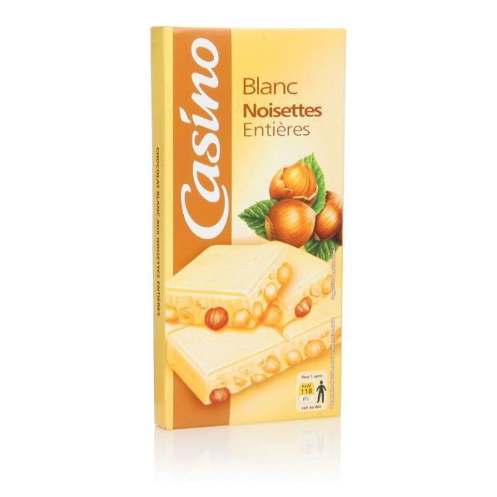Chocolat blanc noisettes entières - 200 g