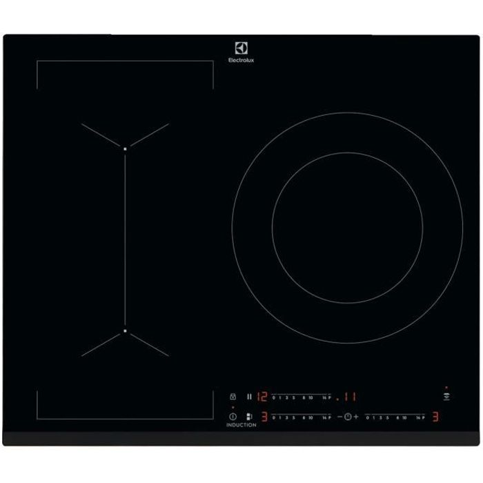 ELECTROLUX LIV633 - Table de cuisson induction - 3 zones - 7350 W - L 59 x P 52 cm - Revêtement verr
