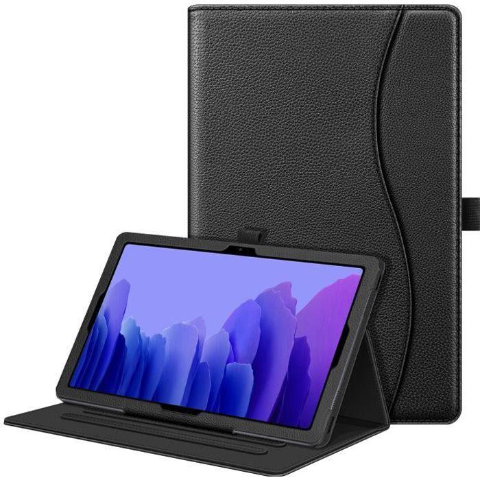 """FINTIE Coque pour Samsung Galaxy Tab A7 10.4"""", Etui Housse Protection Multi-Angle Ajustable Sommeil/Réveil Automatique, Noir"""