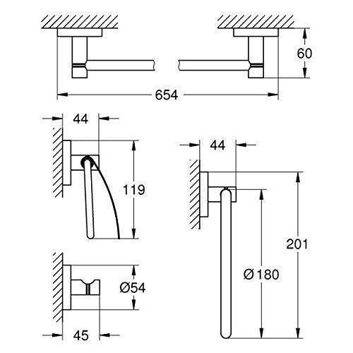GROHE essentials Set d`Accessoires Argent - 40776001
