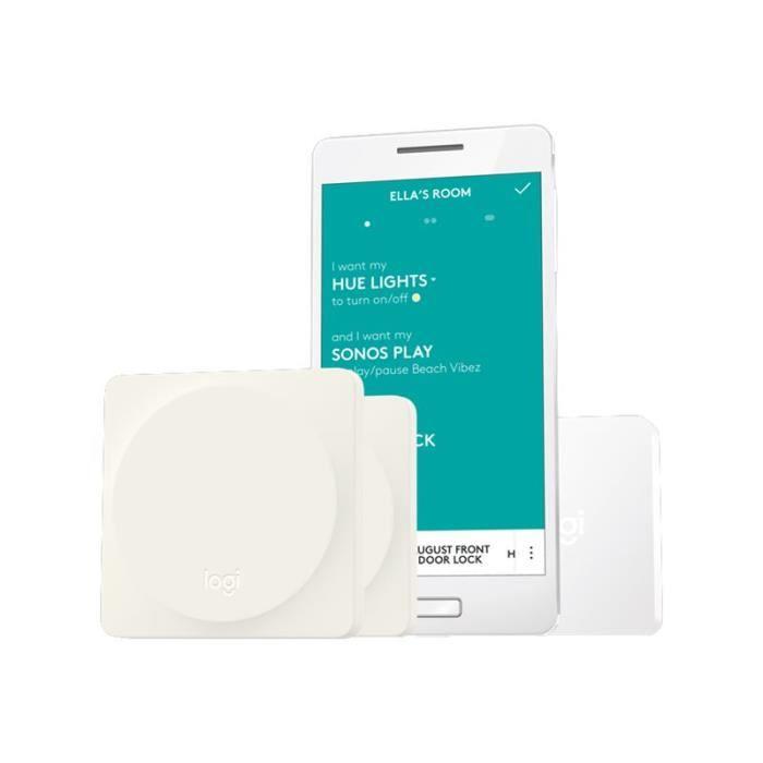 Logitech POP Home Switch Starter Pack - Interrupteur - sans fil - Bluetooth, Wi-Fi - blanc (pack de 2)