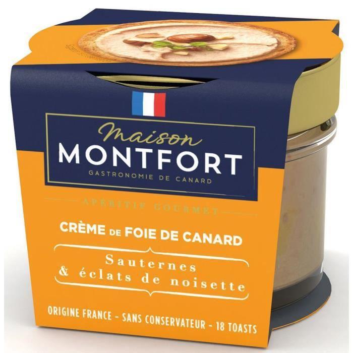 MAISON MONTFORT Crème de Foie de canard - Recette au sauternes - 90 g