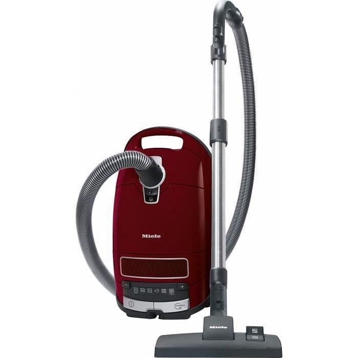 Miele Complete C3 Pure Red PowerLine SGDF3, 890 W, C, 34,3 kWh, Aspirateur réservoir cylindrique, Sac à poussière, 4,5 L