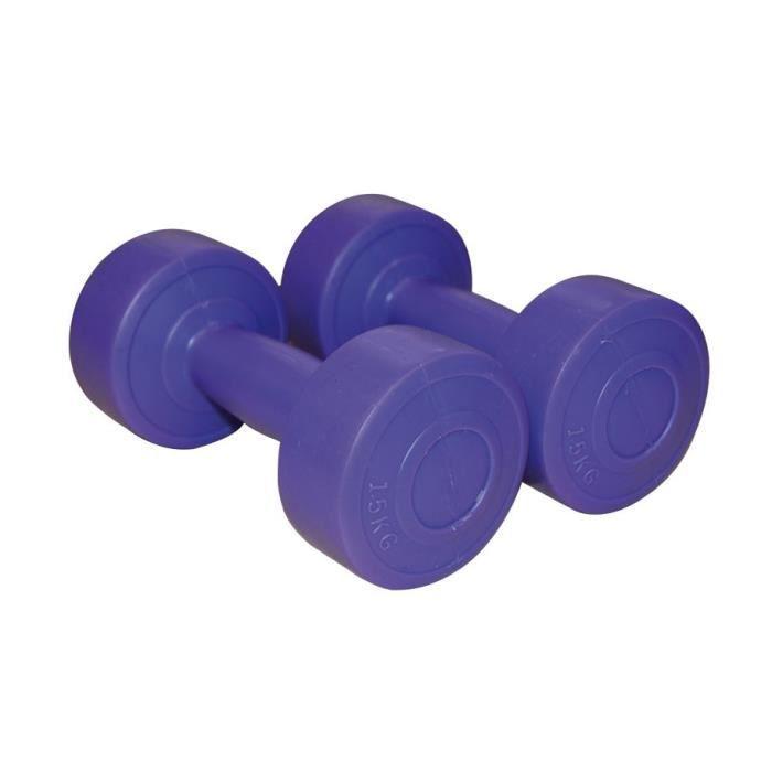SVELTUS - Haltères vinyle violet-rose 1.5 kg