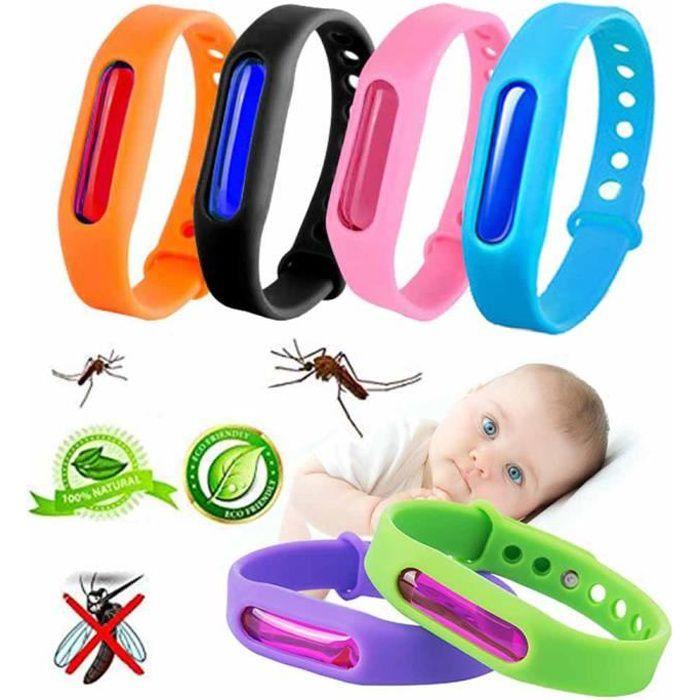 6 pcs Bracelet anti-moustique pour les enfants, les adultes et les animaux - insectes Voyage Répulsif