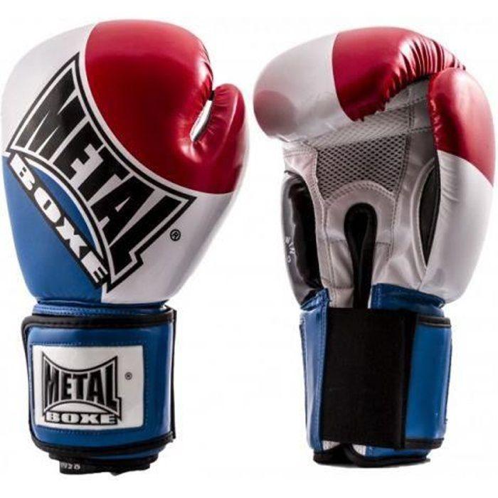 METALBOXE - Gant compet bleu blanc rouge Metal Boxe - (blanc - 10 OZ)
