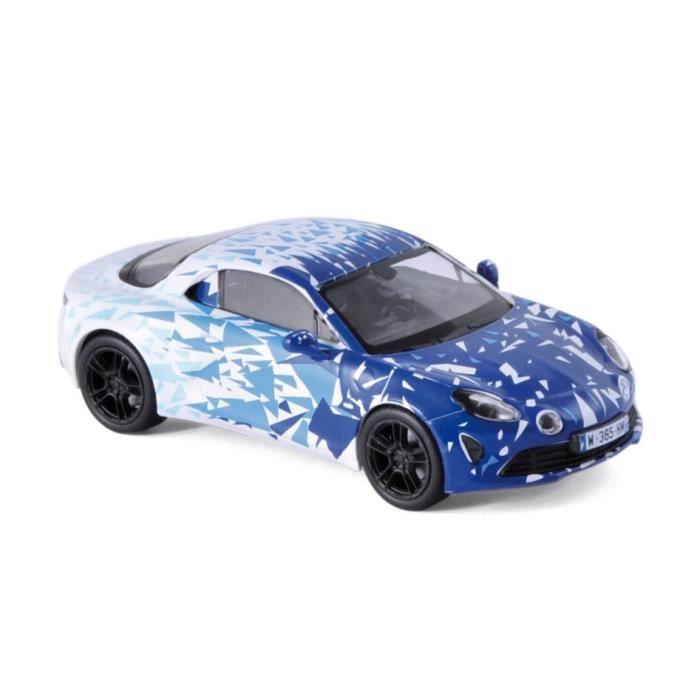 Miniatures montées - Alpine A110 blanc/bleu - version test 2017 1/43 Norev