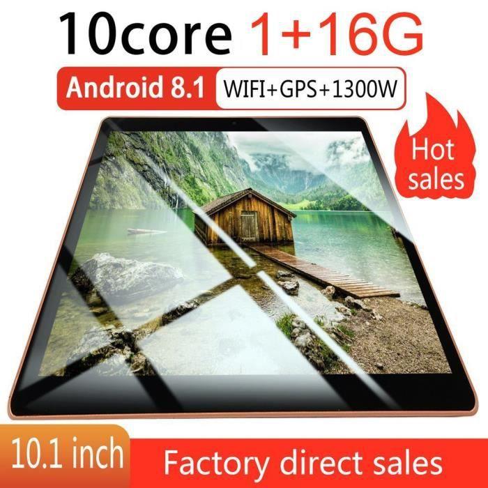 10.1inch pour Android 8.1 Tablet Pc 4 Go + 64 Go Wifi dix tablette tablette 13.0Mp Caméra