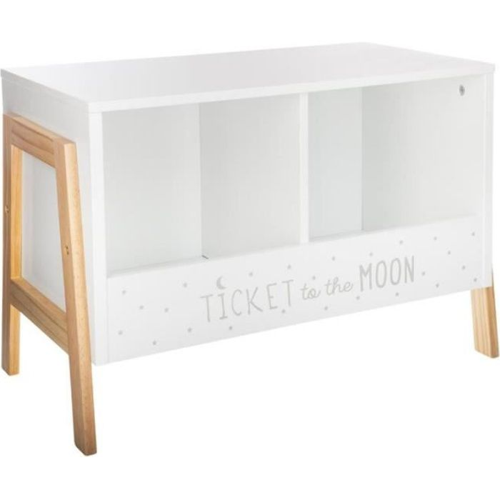 Meuble de Rangement 2 Casiers -Moon- 60cm Blanc