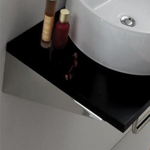 Paire Equerre de Fixation lavabo, 25 ou 40 x 8 cm, Chromé (40 cm)