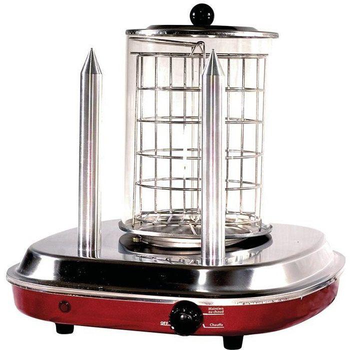 Machine à hot dog 2 pics chauffants