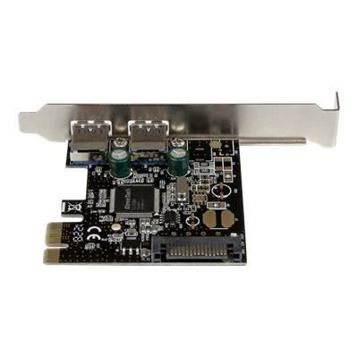 Carte PCIe à 2 ports USB 3.0 - Alimentation SATA - Adaptateur PCI Express 2x USB Super Speed avec alimentation SATA - PEXUSB3S23