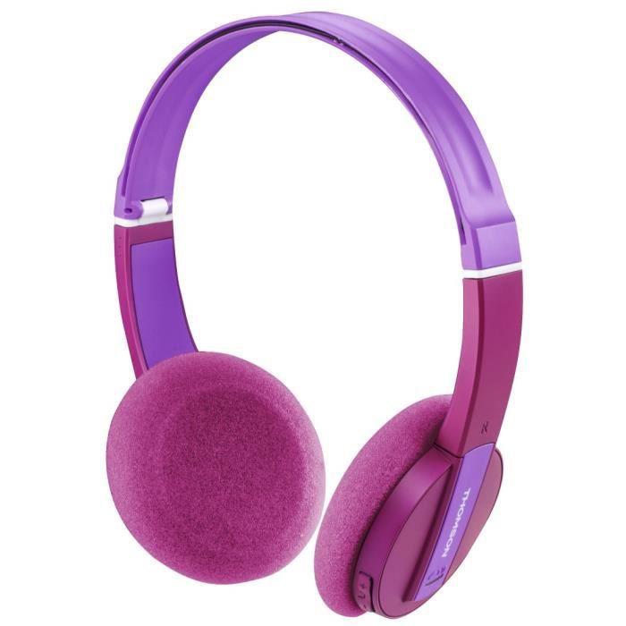 Thomson Casque micro Bluetooth WHP-6017 P pour enfants, rose