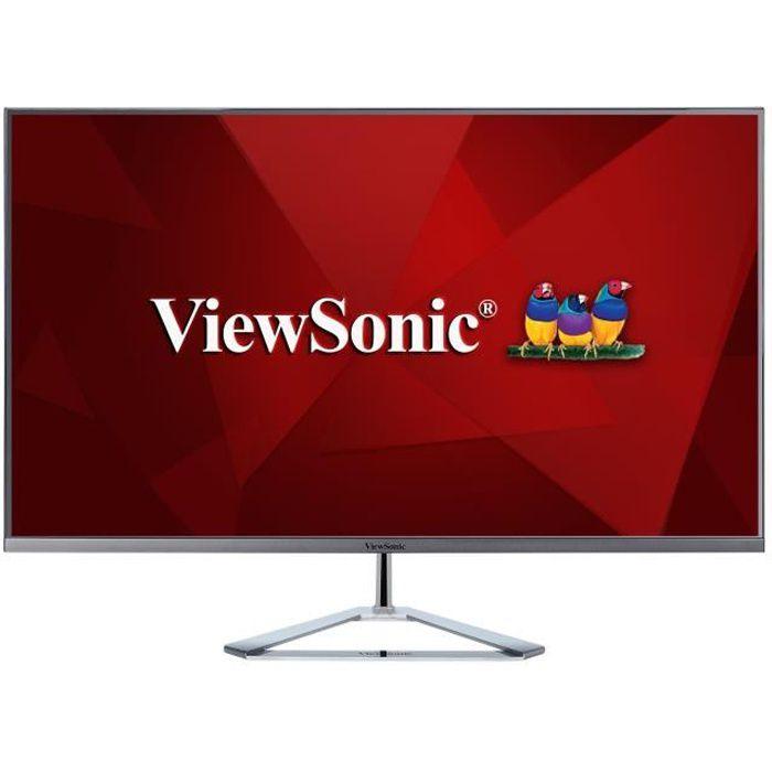 VIEWSONIC Écran LED VX3276-2K-mhd - 32- (31.5- visualisable) - 2560 x 1440 WQHD - IPS - 250 cd/m² - 1200:1 - 3 ms