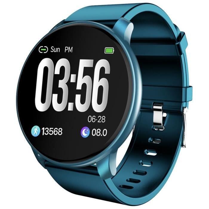 SF+ Montre connectée - Smartwatch élégante - Multisports - Cardio - Bluetooth - Waterproof - Dark Blue