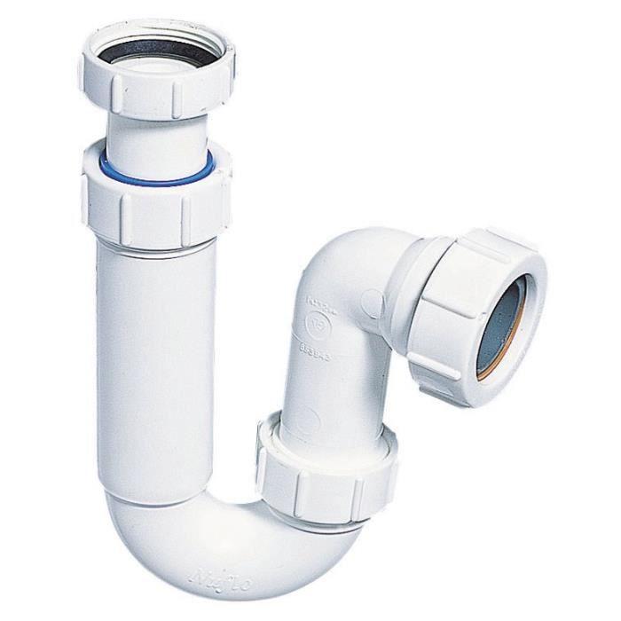 WIRQUIN Siphon P de lavabo - Sortie horizontale - Ø 40 mm