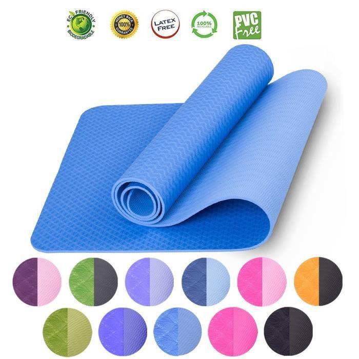 Yoga Violet 180x80x1.5cm Gymnastique tapis gymnastique Tapis Tapis sol SPORT tapis
