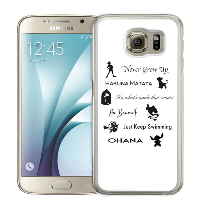 Coque Samsung Galaxy S7 Edge : Citation Disney
