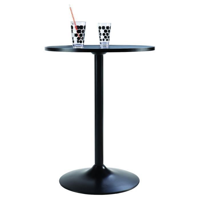 table ronde de cuisine noire achat vente table d. Black Bedroom Furniture Sets. Home Design Ideas
