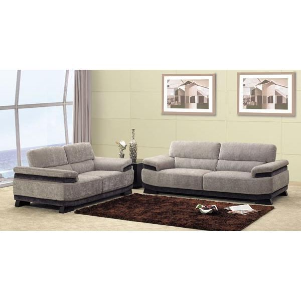 canap s 3 places velours gris chocolat achat vente canap sofa divan cdiscount. Black Bedroom Furniture Sets. Home Design Ideas