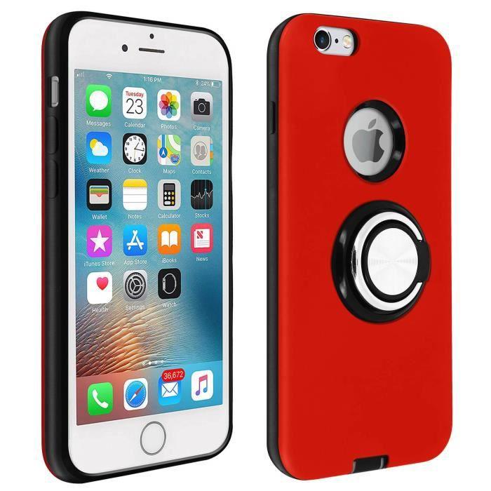 Coque iPhone 6/6S Antichoc Bague Maintien Support