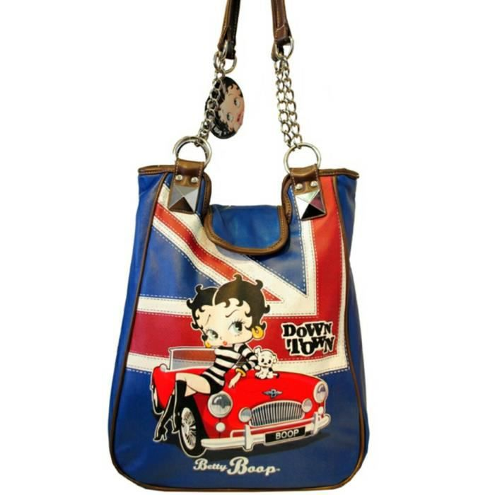 sac main betty boop avec sangle mi cha ne dor achat vente besace sac reporter sac. Black Bedroom Furniture Sets. Home Design Ideas